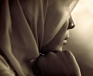 Woman wearing a hijab