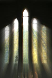 Sunlight Through Church Window