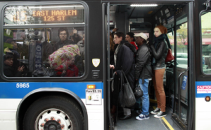 crowded buss