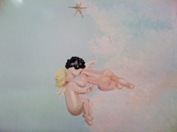 Angels on a ceiling