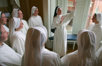 Nun Gathering Early in the AM